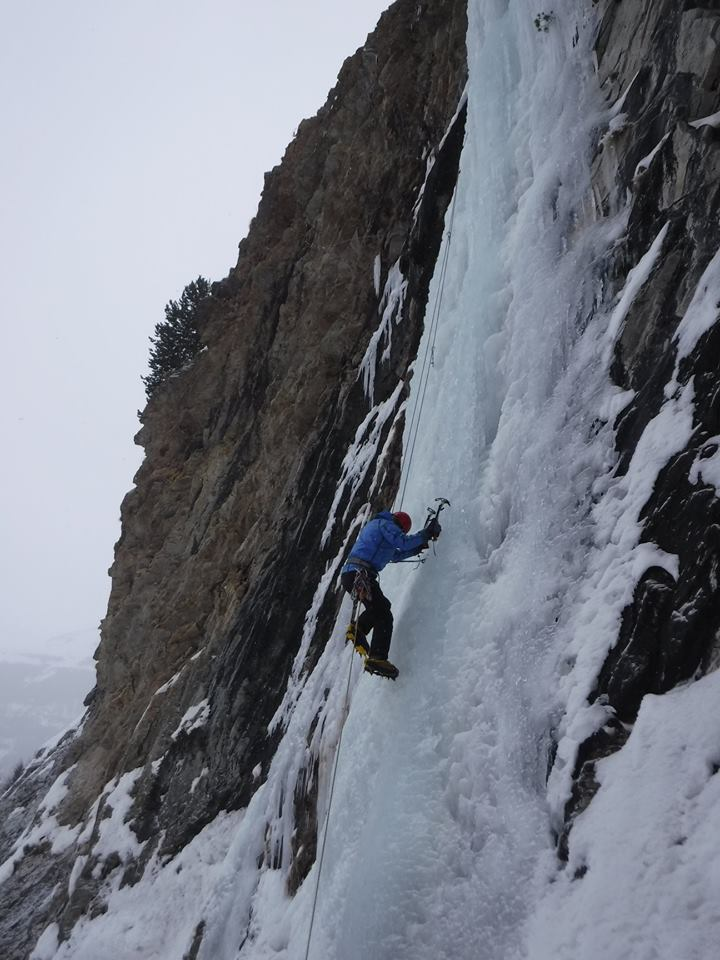 The thing about ice climbing..